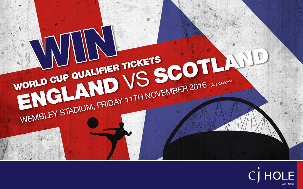 Win World Cup Qualifier Tickets! England v Scotland